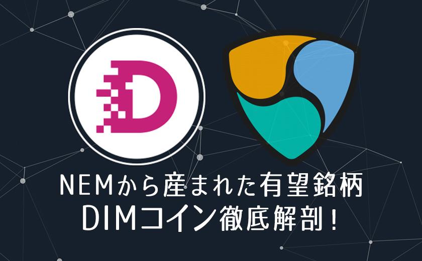 仮想通貨 DIMCOIN(ディムコイン)とは?特徴やメリット 将来性は?